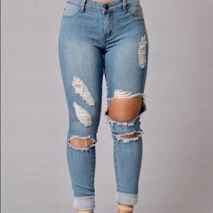 Boardwalk jeans light wash FashionNova